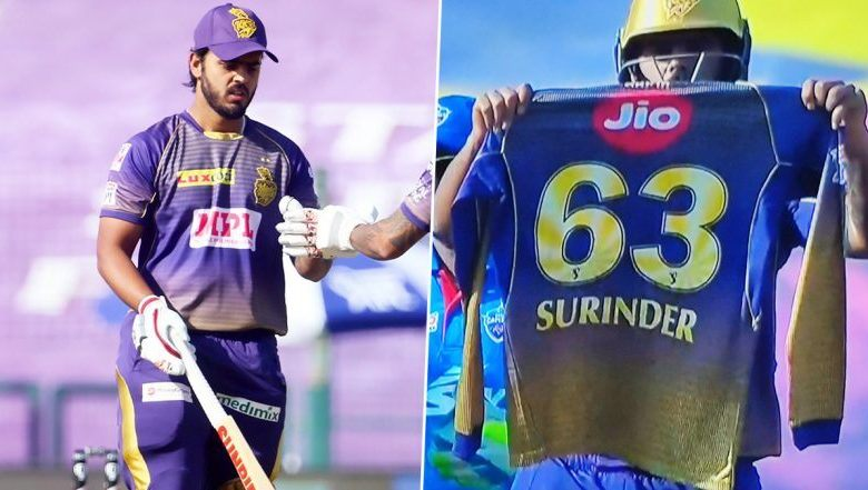 IPL 2020: Nitish Rana pays special tribute to late father-in-law Surinder during the match