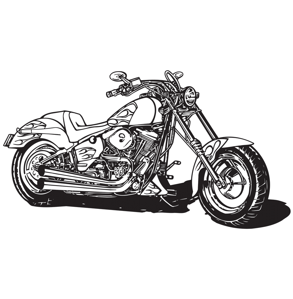 Cars Trucks Motorcycles Coloring Pages