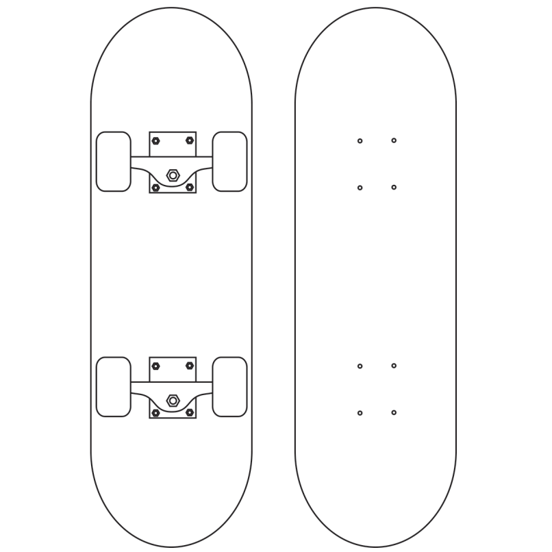 Design Your Own Skateboard Coloring Page Mountainstyleco