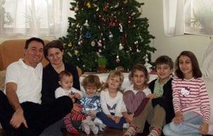Tőzsér Berta és családja