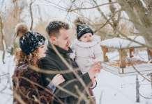 téli utazás babával