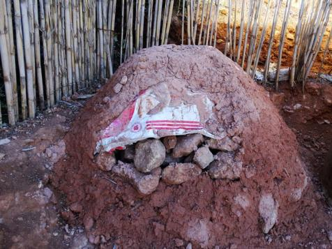 Ziemno-kamienny piec chlebowy