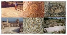 Mozaika boga morza - Neptuna; łaźnie miejskie obok amfiteatru w Lixus