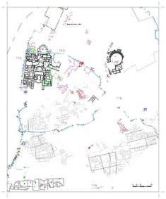 Plan Lixus; na szaro zaznaczono budynki w ziemi, widoczne przy badaniu sądą
