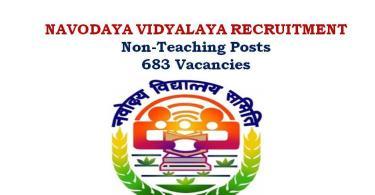 Navodaya Vidhyalaya REcruitment 2017