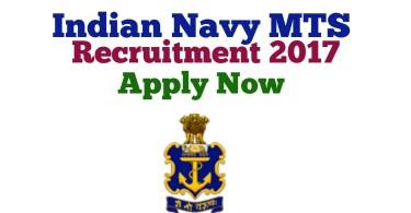 Indian Navy MTS Recruitment online form 2017