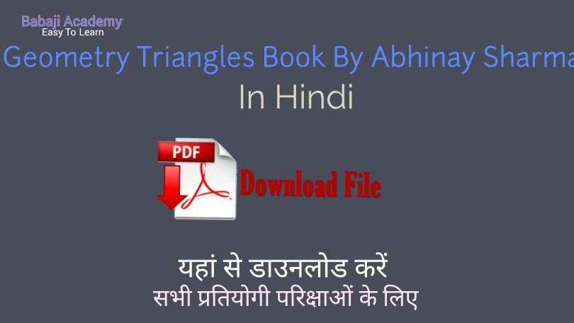 Geometry & Triangles by abhinay sharma