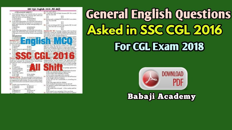 best book for english for ssc cgl