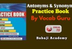 Synonyms and Antonyms List With Hindi meaning Pdf