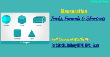 Mensuration Tricks
