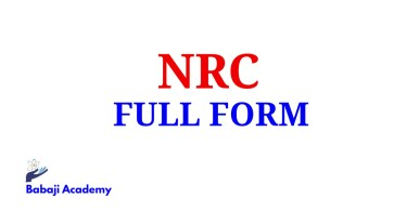 NRC Full Form, Full Form of NRC, NRC Meaning in English