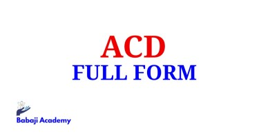 ACD Full Form, Full Form of ACD, ACD Meaning in English