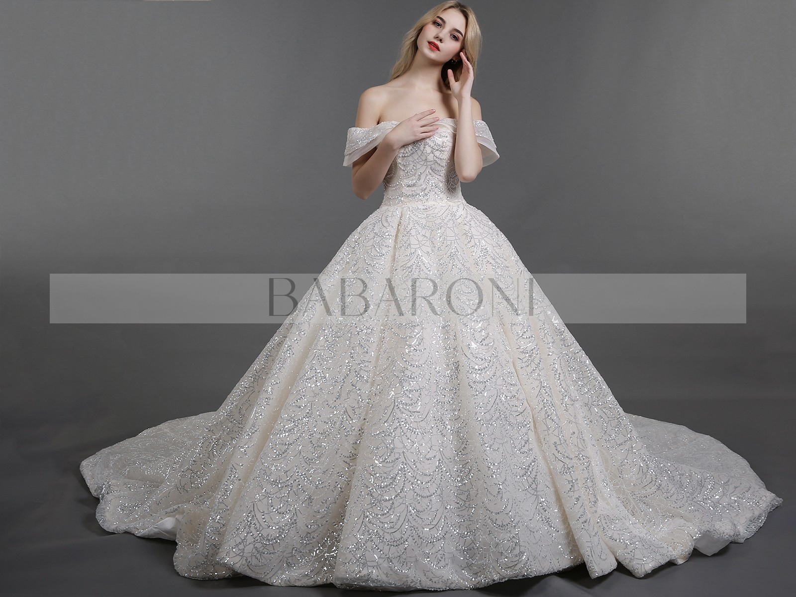 Ball Gown Sequins Royal Wedding Dresses