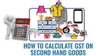 gst on second hand goods