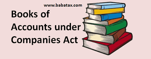 Books of Accounts under Companies Act, 2013