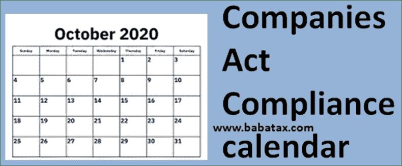 Companies Act, 2013 compliance