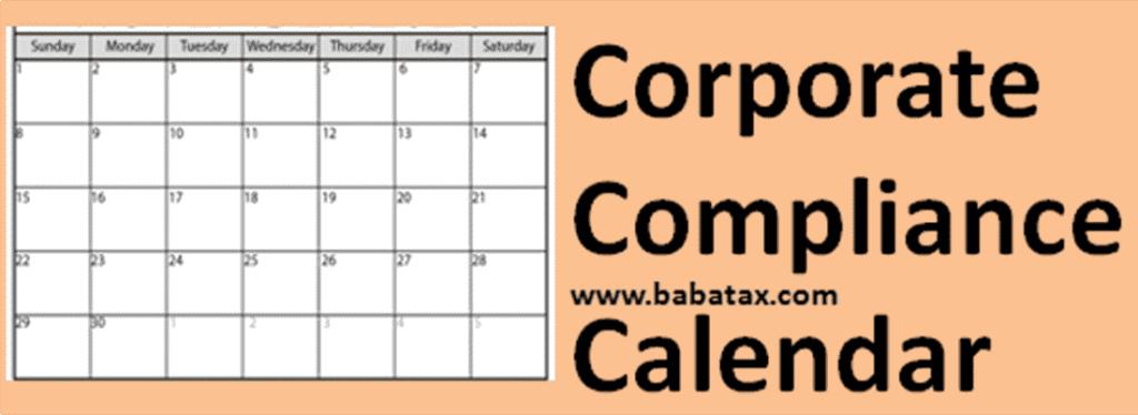 Tax Calendar of June 2021