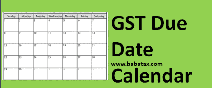 GST Return Due Date