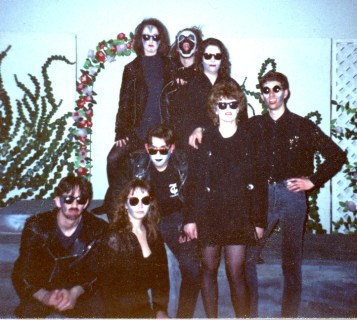 Some extras as 'demons & hags' (that's me on the far right)