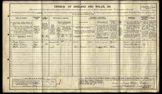 1911 England Census - Walter Thomas Babb