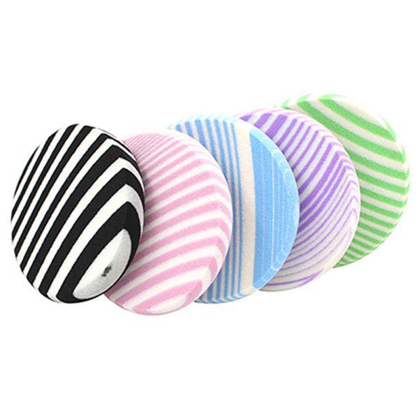 zebra striped makeup sponge all colors