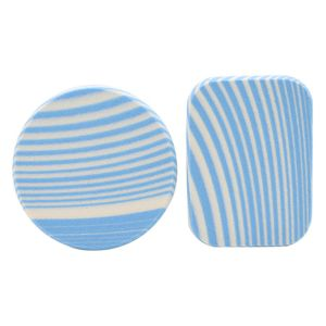 zebra striped makeup sponge blue