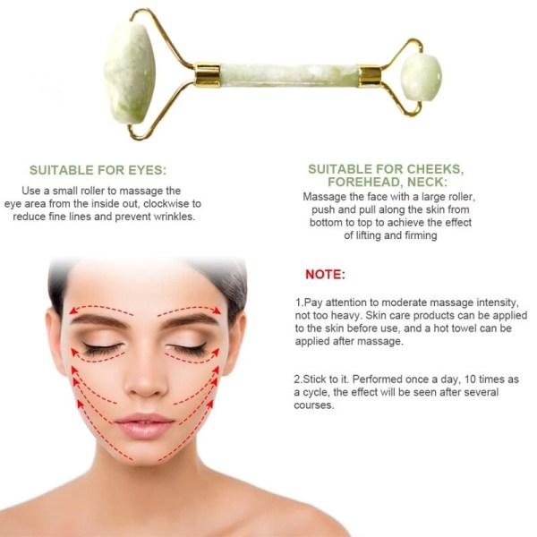 jade roller facial massager face skin ma main 2