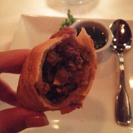 Beef Empanada at Carlitos Gardel Restaurant