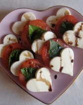Heart Shaped Caprese Salad