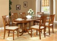 7pc oval dining room set table 42x78 with leaf and 6 inside Dining Room Tables