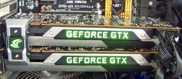 GTX 980 SLI Backplate thermals & hands on with Nvidia's lighted SLI bridges