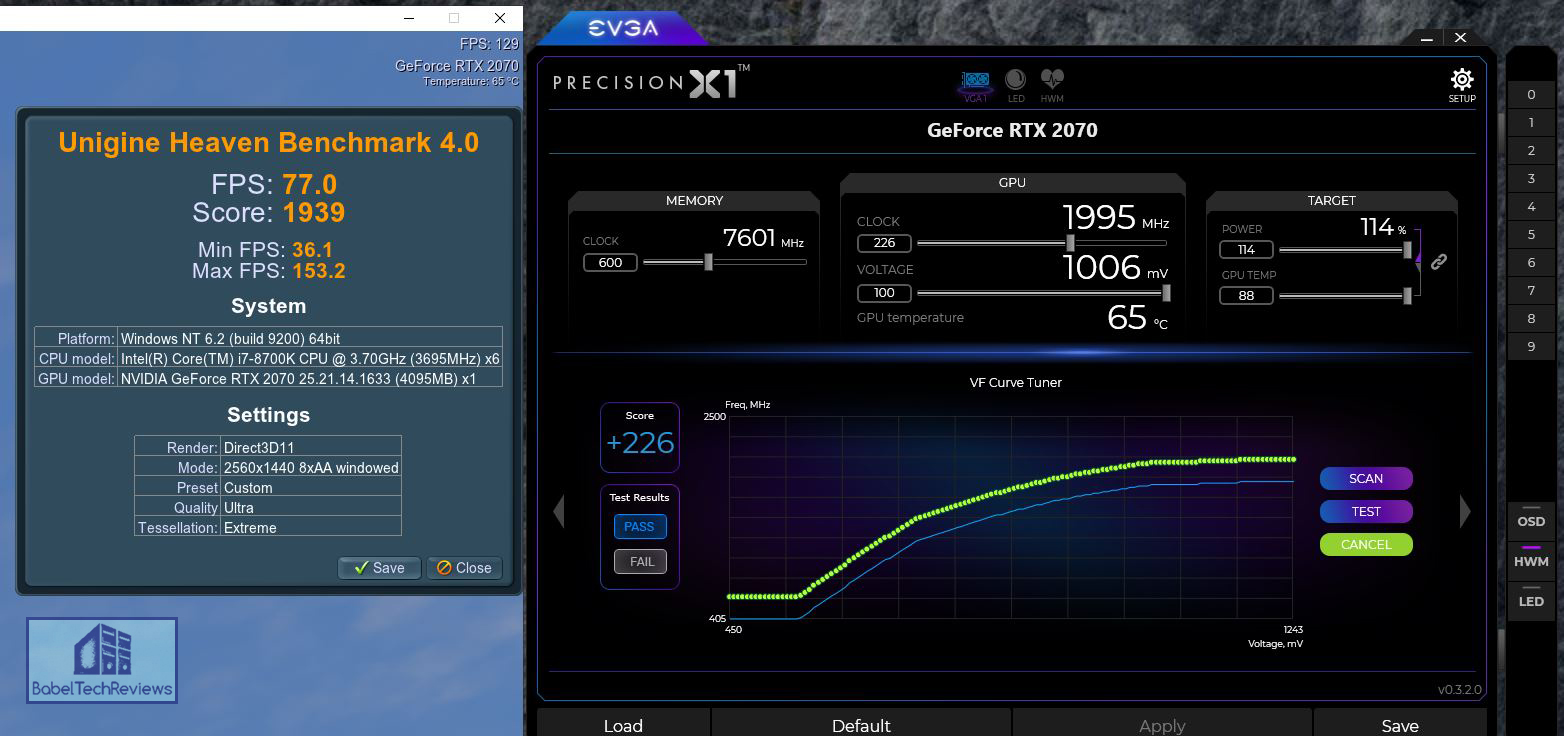 The EVGA RTX 2070 Black Benchmarked with 38 Games