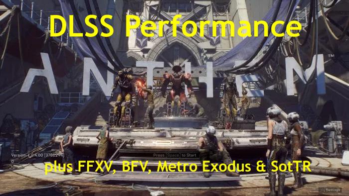Anthem, FFXV, BFV, Metro Exodus & SotTR DLSS Performance Update