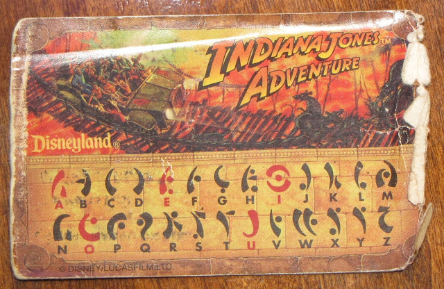 indiana jones decoder card
