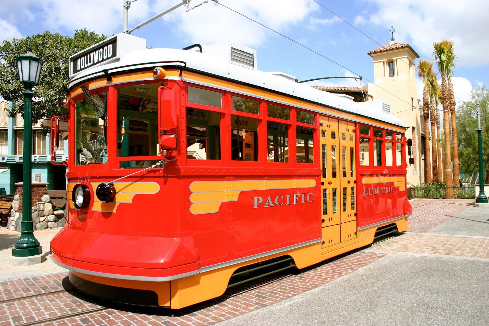 Trolley Car: Fun Fact Friday: Red Car Trolley On Buena Vista Street In
