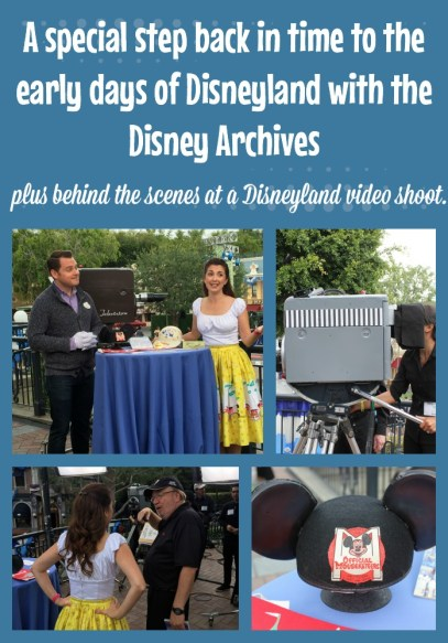 Step back in time at Disneyland with the Disney archives plus behind the scenes at a Disneyland video shoot.