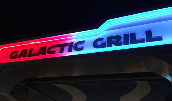 Galactic Grill menu items