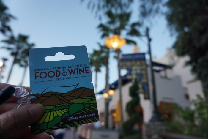 DCA food and wine festival gift card