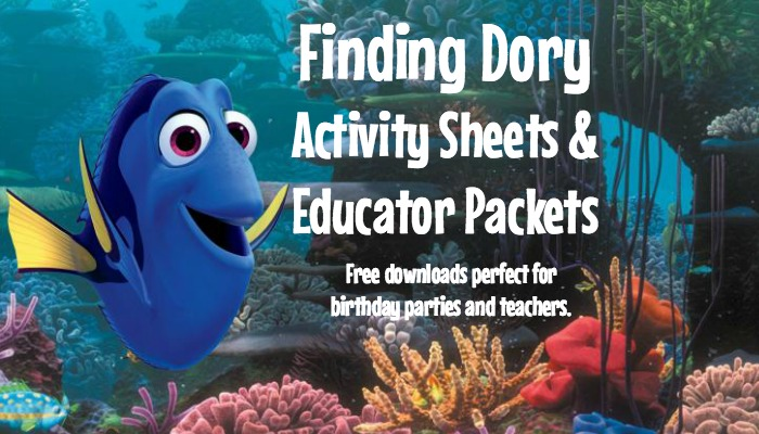 Finding Dory Activity Sheets & Educator Packets