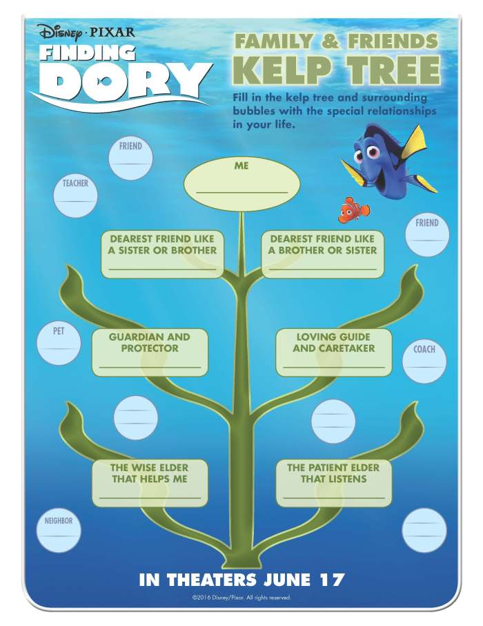 Finding Dory Activity Sheet Downloads