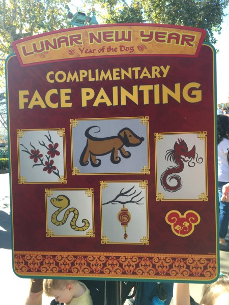 LNY Complimentary Face Painting