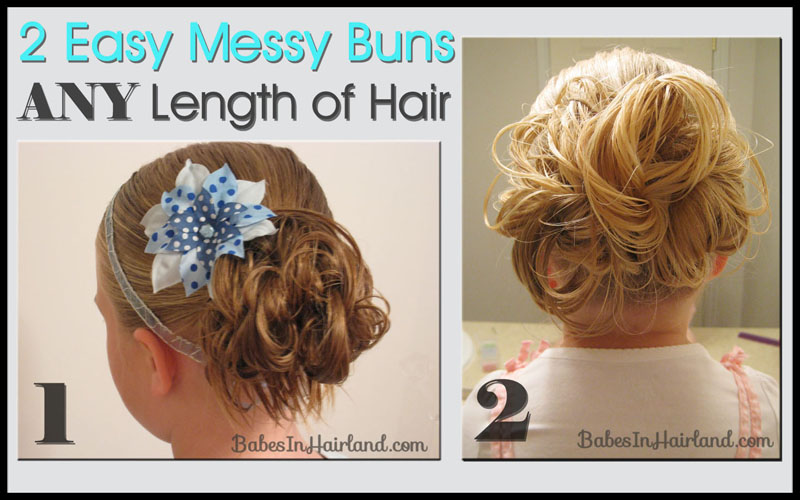 Two easy messy buns for short or long hair babes in hairland messy bun 1 is a wonderful way to make a messy bun on short to medium hair you can watch our messy bun video here this is was our way of doing messy urmus Gallery