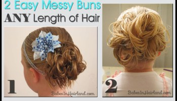 Messy Bun For Long Hair Video Babes In Hairland