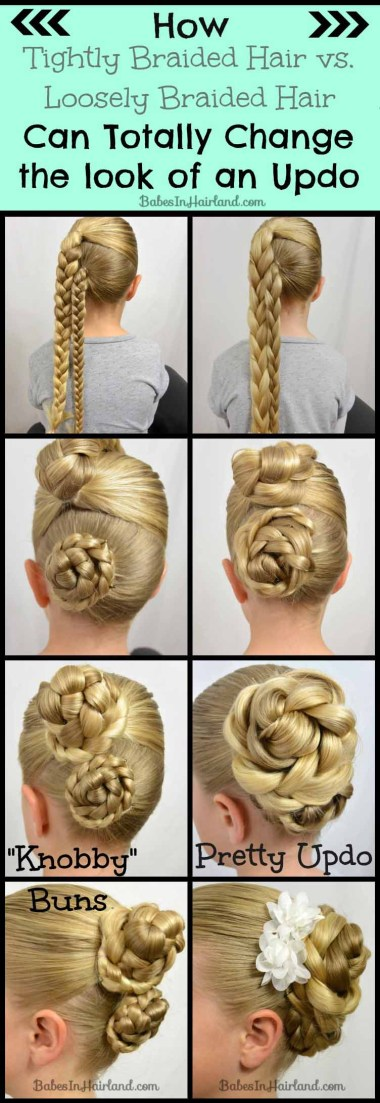 Tight vs. Loose Braid Updo from BabesInHairland.com