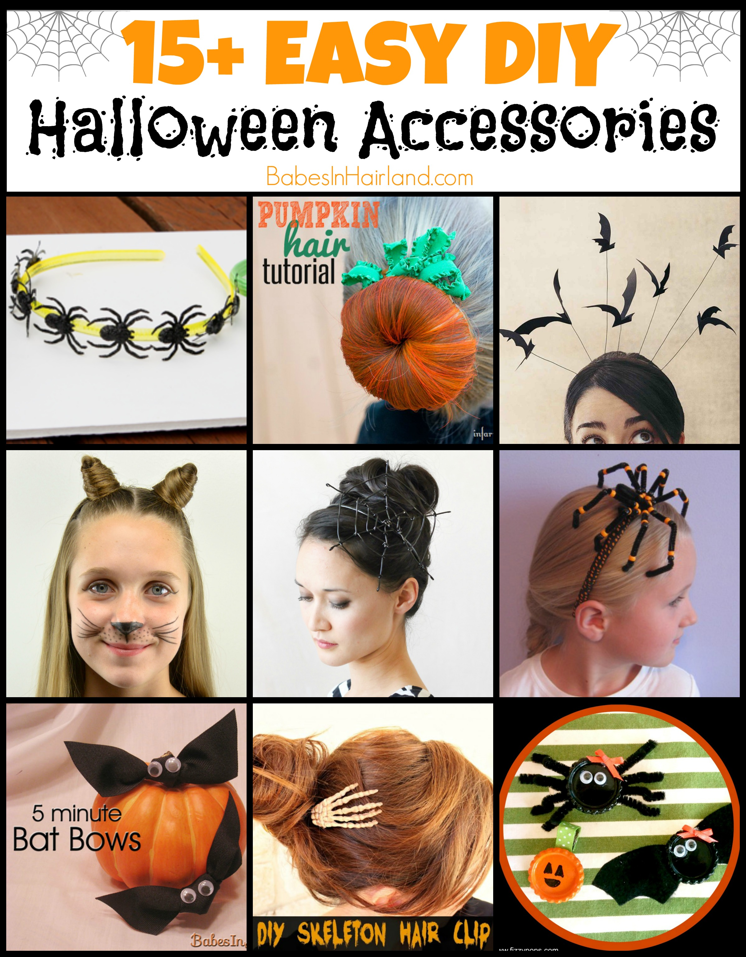 15 Easy Natural Make Up Tutorials 2014 For Beginners: 15+ Easy DIY Halloween Hair Accessories