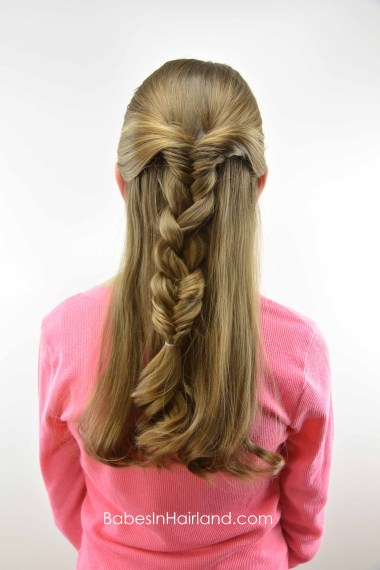 Half Up Combo Braid from BabesInHairland.com #braid #fishbonebraid #hair #hairstyle