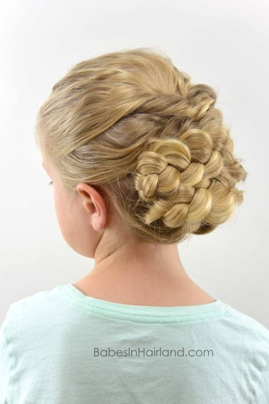 Easy Romantic Braided Updo from BabesInHairland.com #updo #braids #prom #weddinghair #hair #hairstyle