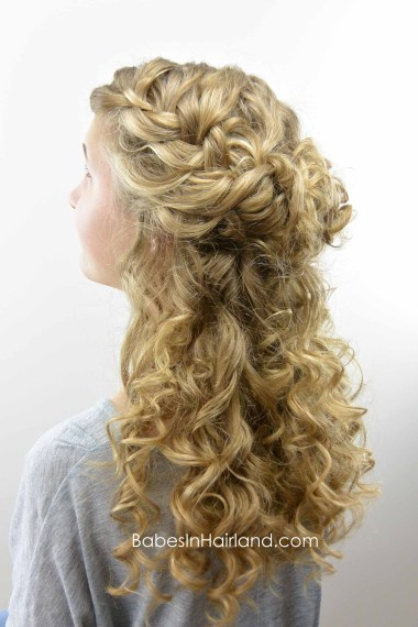 Half-Up Style for Curly Hair from BabesInHairland.com #curls #curlformers #hair #hairstyle #frenchbraid
