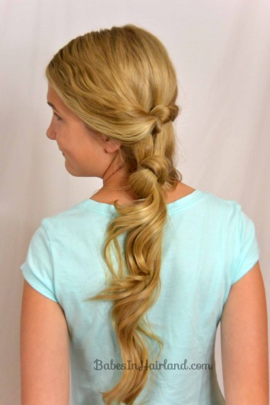 Side Swept Double Knot Hairstyle from BabesInHairland.com