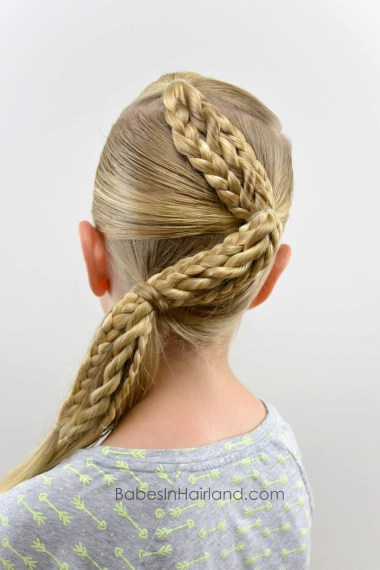 Zig Zag Braids from BabesInHairland.com #hair #braids #ponytail #hairstyles